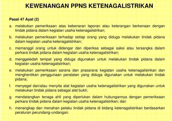 KETENTUAN PIDANA DI BIDANG KETENAGALISTRIKAN - PPNS.pptx_13