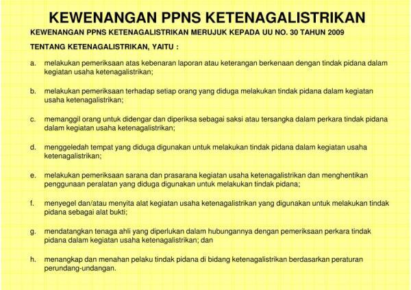 KETENTUAN PIDANA DI BIDANG KETENAGALISTRIKAN - PPNS.pptx_17