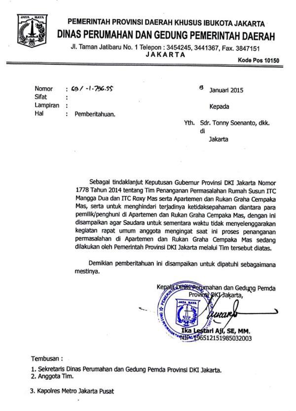 Surat Dinas Perumahan dan Gedung DKI 02