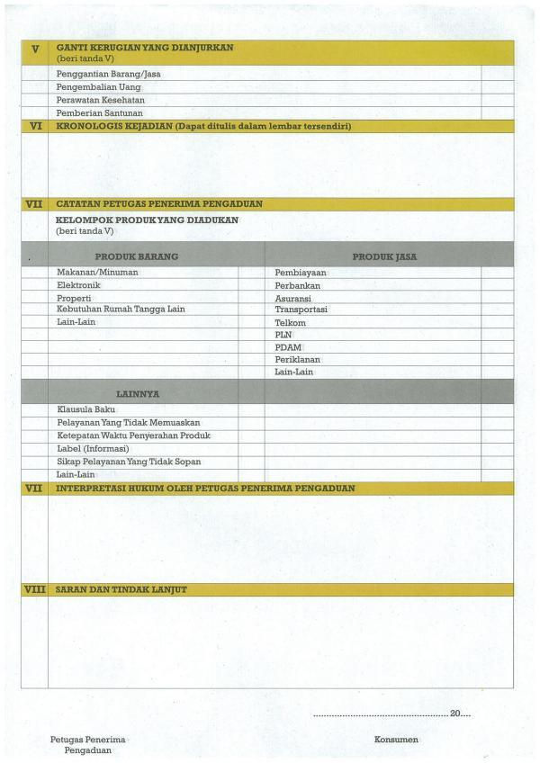 Formulir Pengaduan Konsumen 2