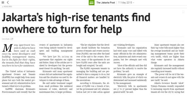Jakarta High-rise tenants find nowhere to turn for help - Press Reader A
