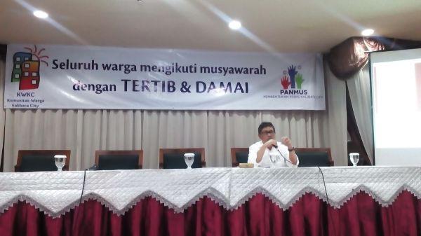 Syarif Burhanudin - Dirjen perumahan rakyat hadir sebagai bukti ke absahan RUTA Warga Murni Kalibata City tanggal 18 Mei 2015
