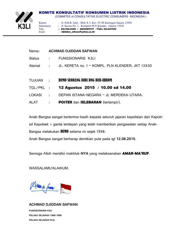 Komite Konsultatif Konsumen Listrik Indonesia - Demo Masalah Listrik 2015_02