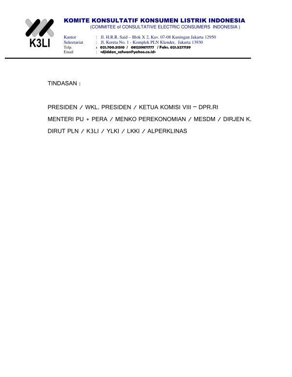 Komite Konsultatif Konsumen Listrik Indonesia - Demo Masalah Listrik 2015_03