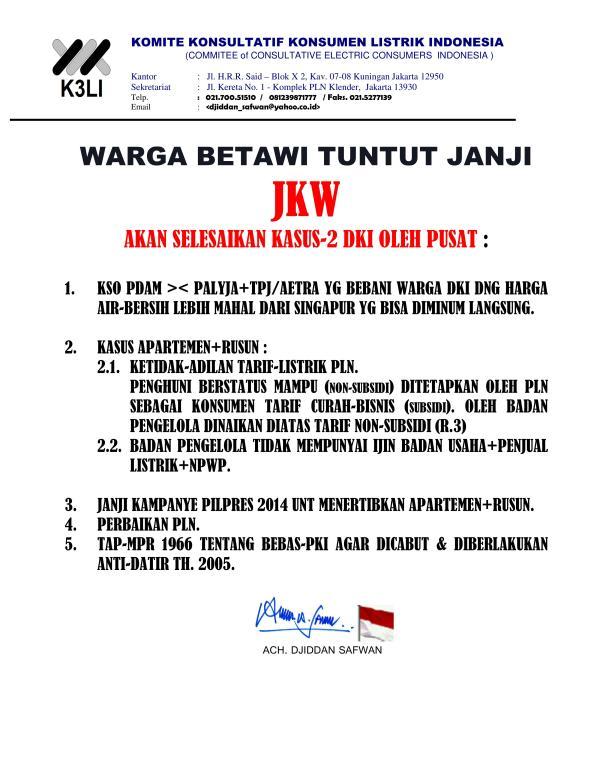Komite Konsultatif Konsumen Listrik Indonesia - Demo Masalah Listrik 2015_04