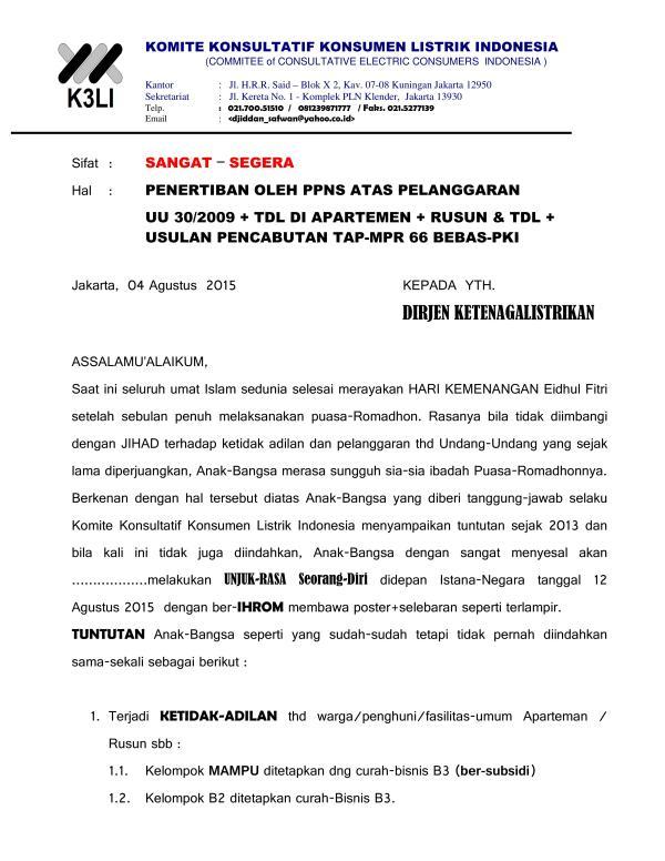 Komite Konsultatif Konsumen Listrik Indonesia - Demo Masalah Listrik 2015_05