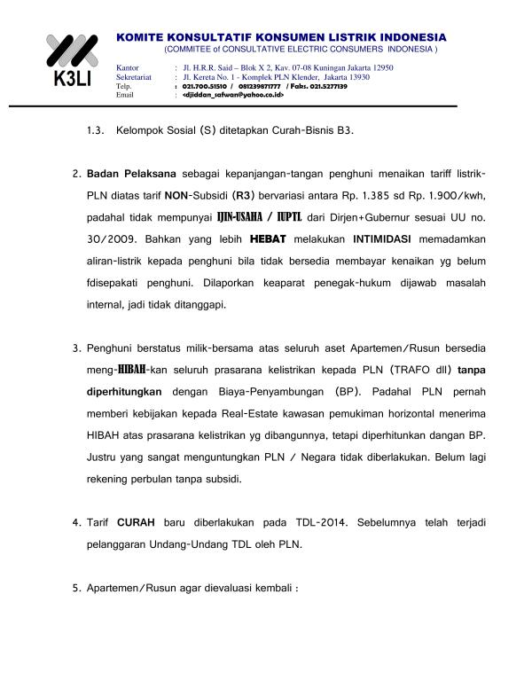 Komite Konsultatif Konsumen Listrik Indonesia - Demo Masalah Listrik 2015_06